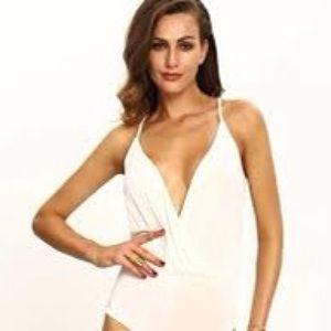 H&M Surplice Plunge Bodysuit